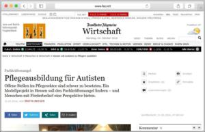 Screenshot des Artikels auf FAZ.net.