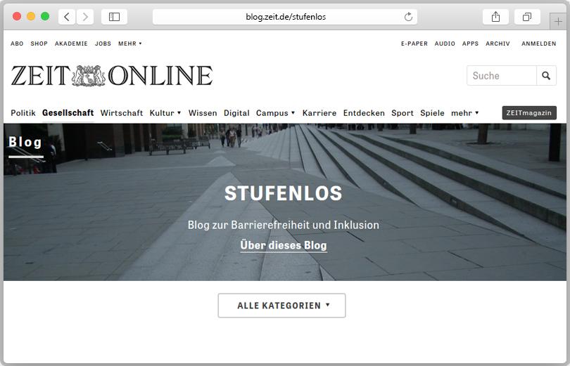 """Vorschau des Blogs """"Stufenlos"""" von Christiane Link."""
