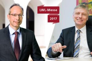 Links der LWL-Direktor Matthias Löb, rechts der LWL-Sozialdezernent Matthias Münning.