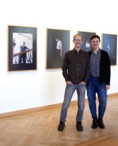 Die Künstler Jens Sundheim und Dagmar Lippok in ihrer Ausstellung. Foto: Osthaus Museum Hagen