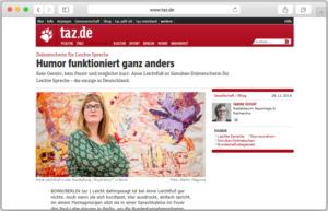 Website-Screenshot des TAZ-Artikels