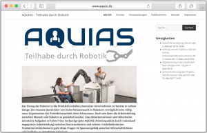 Website-Screenshot des Projektes AQUIAS