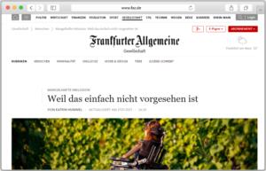 Screenshot der Reportage auf FAZ.de