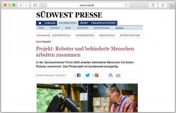 Website-Screenshot des Artikels