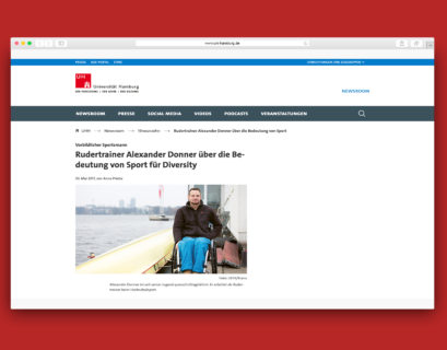 Screenshot des Artikels der Uni Hamburg