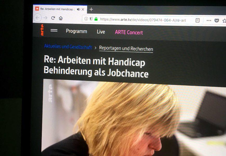 Screenshot der arte-Mediathek-Seite auf einem Laptop