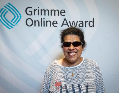 Lydia Zoubek als Nominierte beim Grimme-Online-Award 2019.