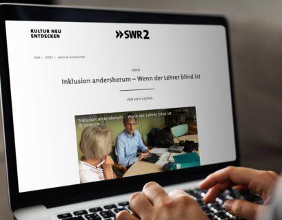 Vorschau der SWR-Website auf einem Laptop-Bildschirm