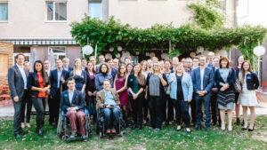 Gruppenfoto beim Abschlussevent 2017 des DisAbility-Talent-Programms in Wien. Foto: Stefan Ebersberger/myAbility
