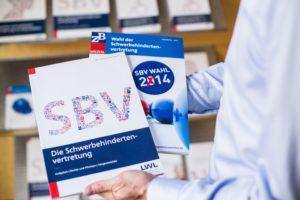 Eine Broschüre mit Infos zu Schwerbehindertenvertretungen