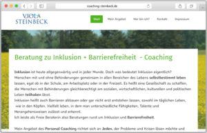 Ausschnitt der Startseite von coaching-steinbeck.de