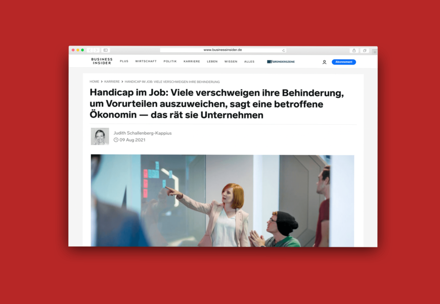 Website-Screenshot des Artikels auf Businessinsider.de