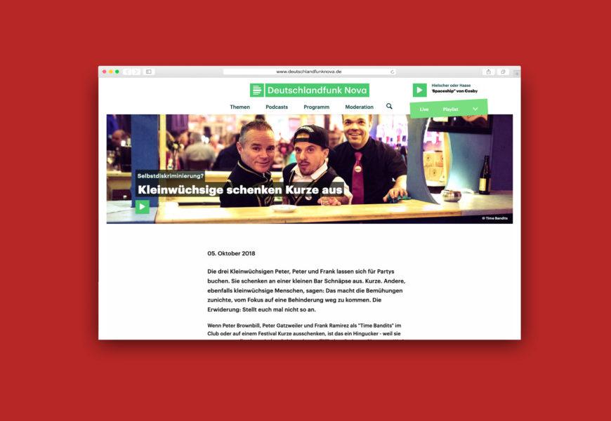Screenshot der Podcast-Seite auf Deutschlandfunknova