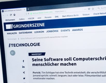 Screenshot des Artikels auf gruenderszene.de