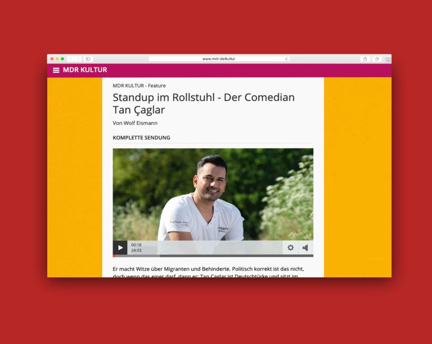 Screenshot des Podcasts mit Tan Çaglar auf mdr.de