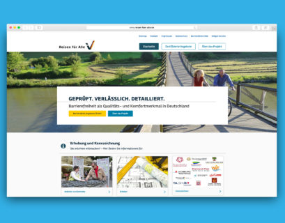 Screenshot des Portals www.reisen-fuer-alle.de