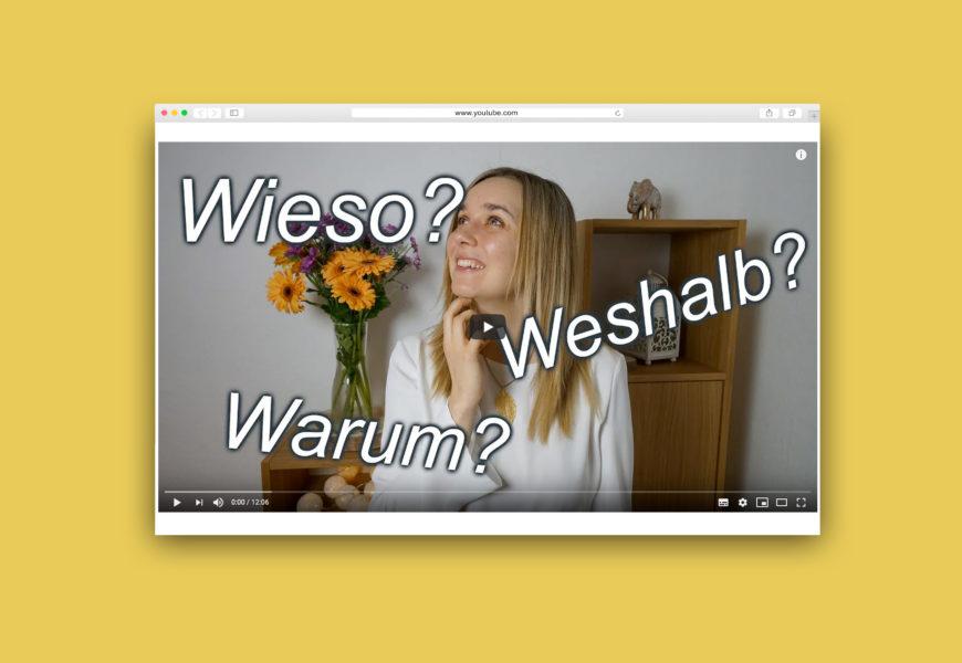 Screenshot des Video-Startbilds auf YouTube: Fabiana mit Fragen um ihren Kopf