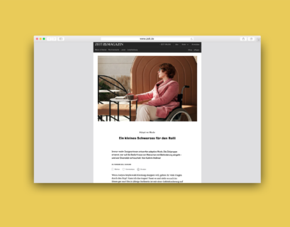 Gelb hinterlegter Screenshot des Artikels auf zeit.de
