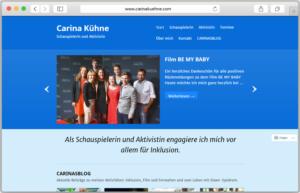 Ein Screenshot der Website von Carina Kühne